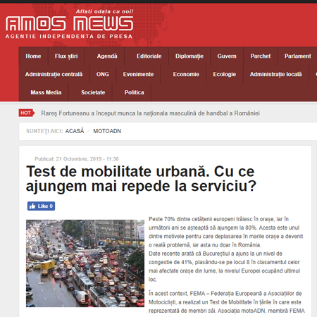 amosnews test de mobilitate urbana