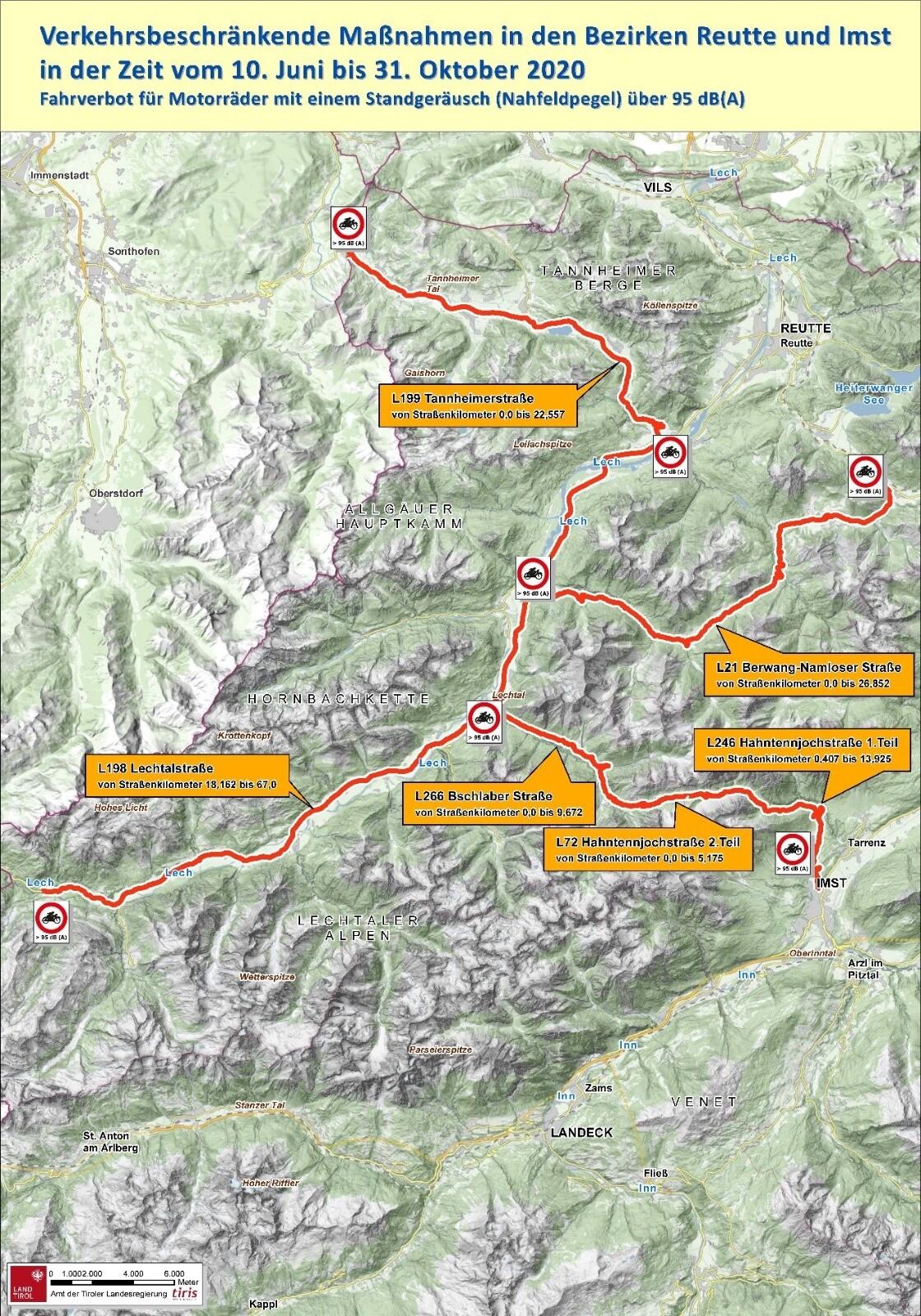 drumuri restrictionate in Tirol