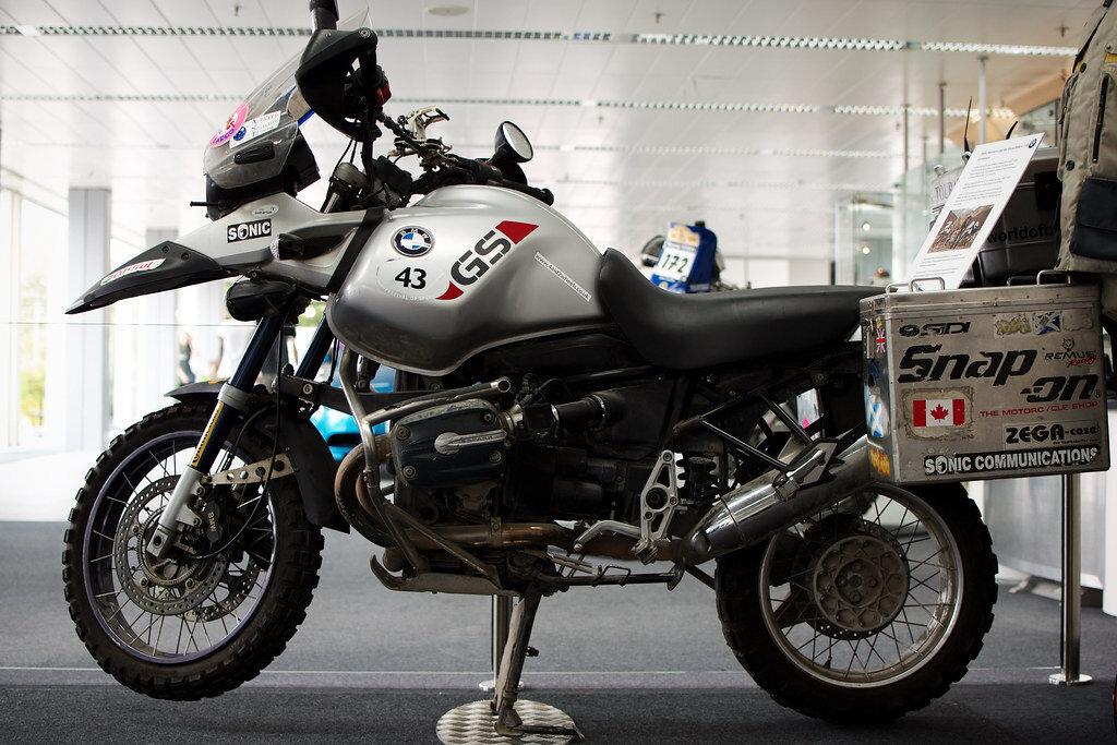 Motocicleta R1150GS folosită de Charley Boorman în seria All Way Round