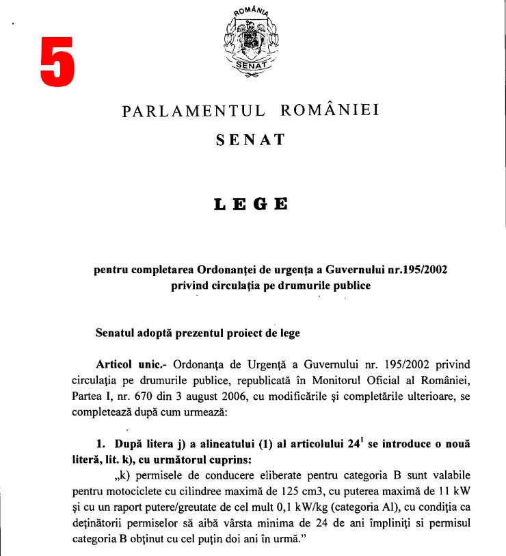 5. 21.10.2019 Senatul adopta proiectul de lege